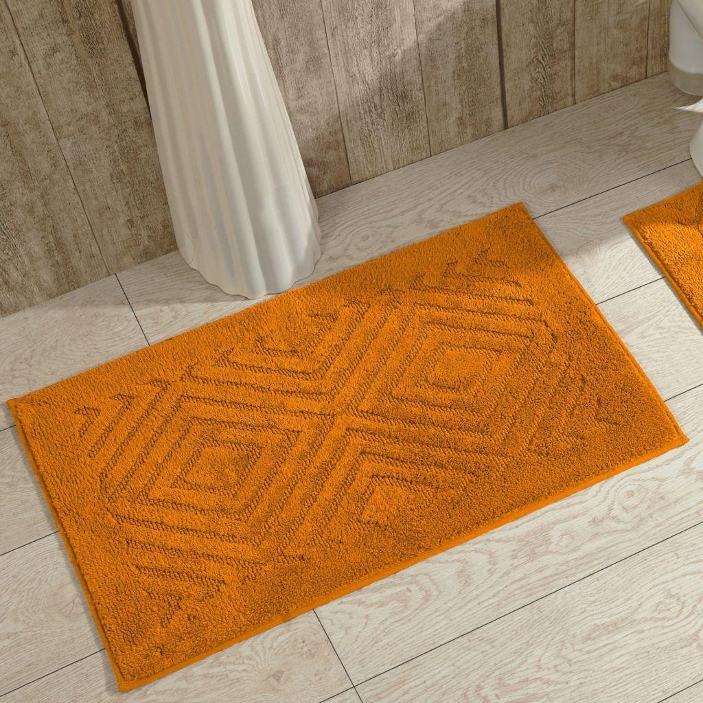 Fluffy Orange Bath Mat Bathroom Decor Pinterest Bath Mat - Orange bathroom mats for bathroom decorating ideas