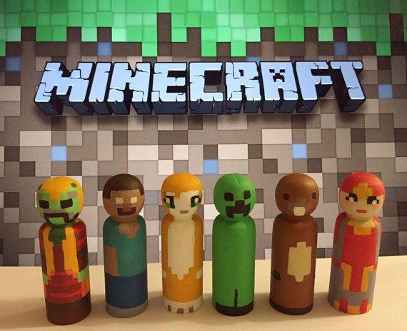 911013eff4632 Minecraft Peg Dolls by madebylilymae on Etsy | Crafts | Diy toys ...