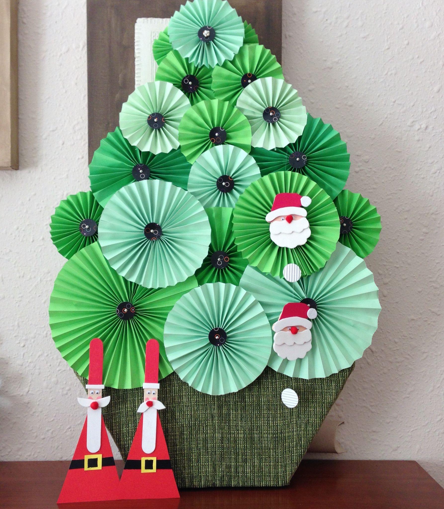 Árbol de Navidad de papel i tela