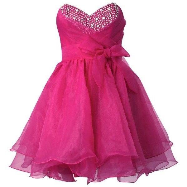 Lipsy V I P Wirehem Embellished Prom Dress ($120) ❤ liked on ...