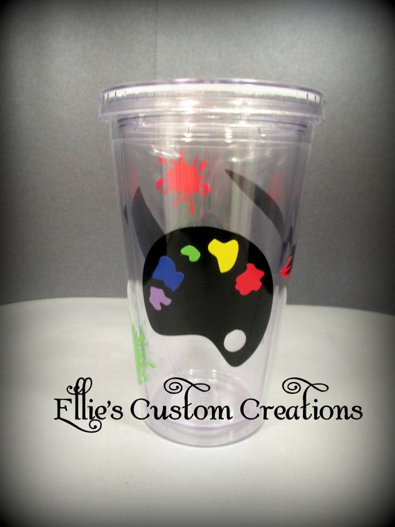 This is perfect for the Artist in your life! Or your favorite Art Teacher!! The tumblers come in clear, pink or black. Check with me for