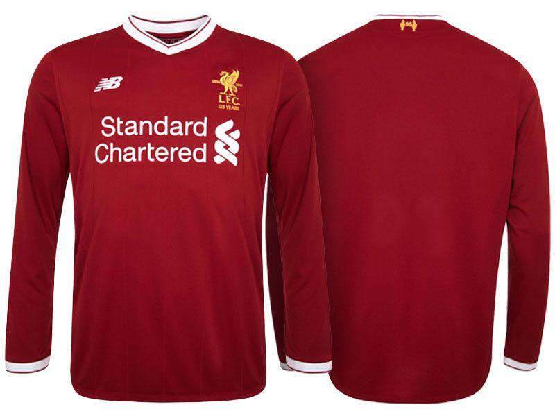 732965157 Liverpool Jersey Home Long Sleeve 2017-18 Shirt