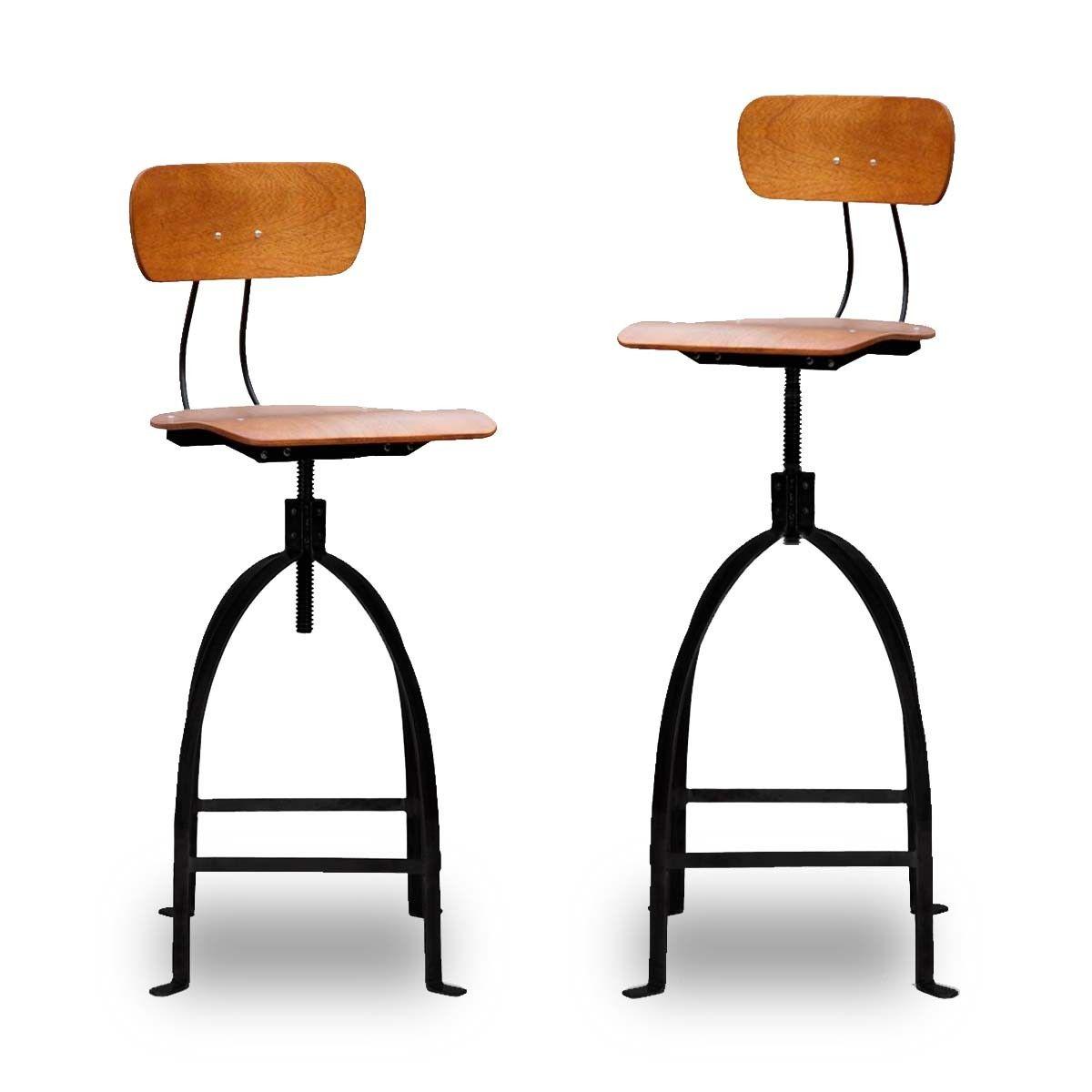 tabouret de bar industriel à vis jb pennel | drawers, style and bar - Chaise De Bar Industriel