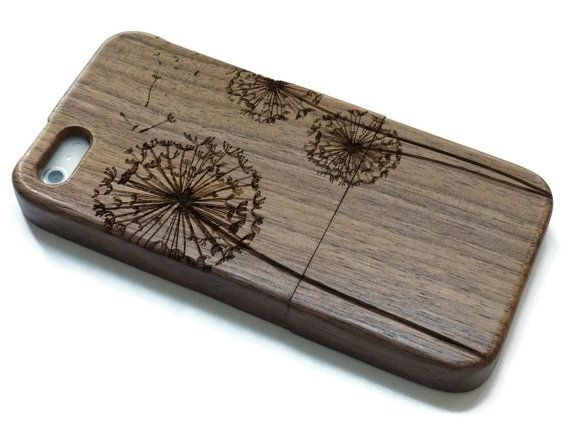 Iphone 7 PLUS case wood - wooden iphone 7 PLUS case walnut, cherry or bamboo wood - Dandelion