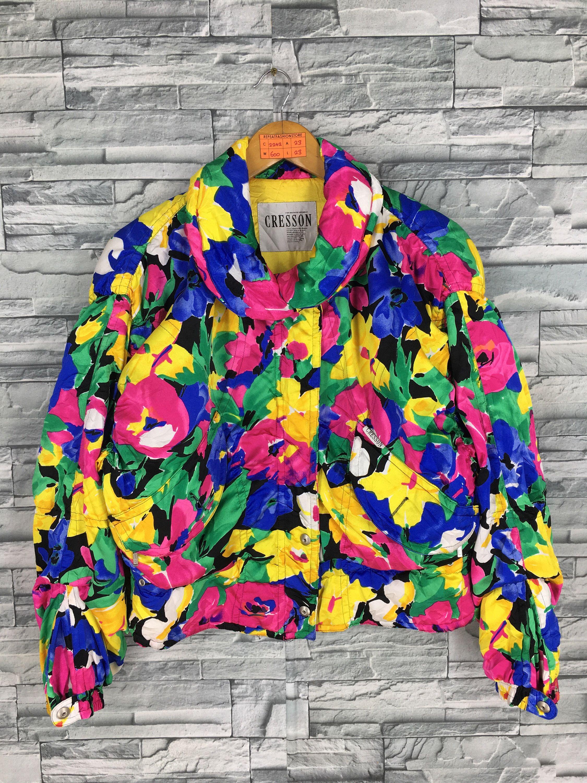 Excited To Share This Item From My Etsy Shop Cresson Ski Jacket Medium Ladies Vintage 90 S Pop Art Multi Hipster Bomber Jacket Bomber Jacket Women Ski Jacket [ 3000 x 2250 Pixel ]