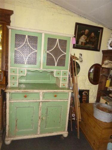 Vintage Antique Retro Shabby Pine Painted Kitchen Dresser Fantastic Ebay