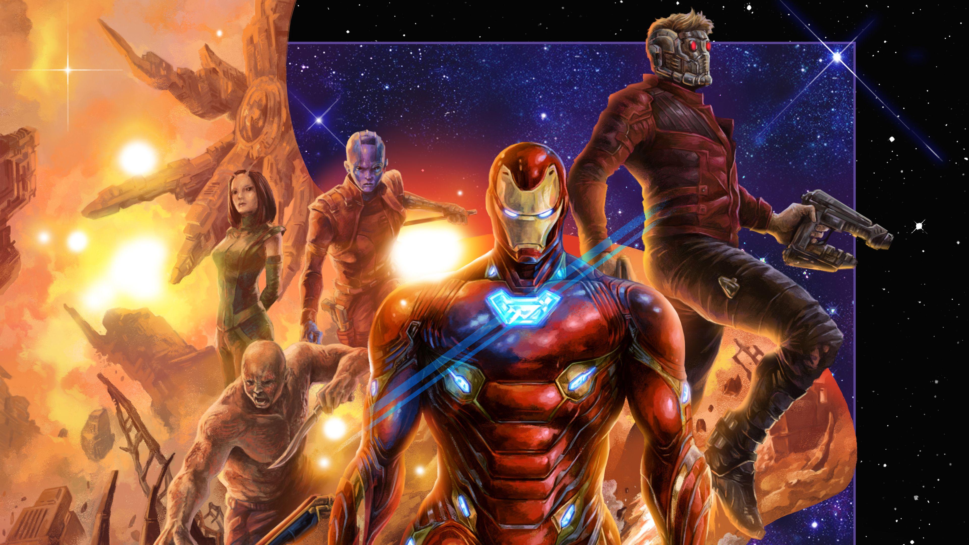 Avengers Infinity War 4k Artworks Superheroes Wallpapers Star Lord Wallpapers Iron Man Wallpapers Hd Wallp Iron Man Wallpaper Avengers Infinity War Avengers