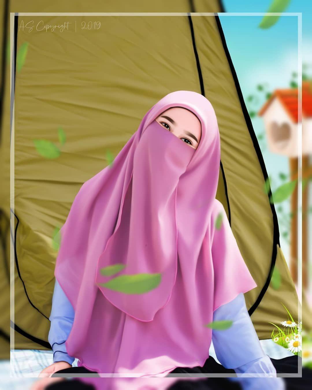 Koleksi mewarnakan gambar muslim dan muslimah azhan co. kartun muslimah 5 orang   Kartun hijab, Kartun, Gambar