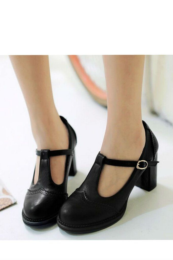 Me Scarpe Scarpe Heel Pinterest T Low Retro Shoes Strap Dress qazxwnU