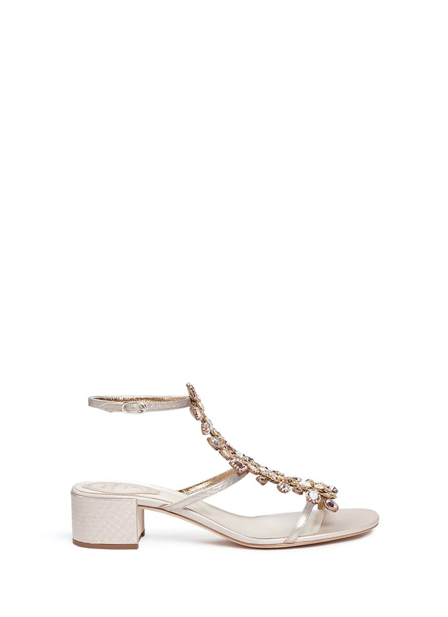 outlet Inexpensive René Caovilla Rene Caovilla Metallic Braided Sandals discount many kinds of 3SjRs0m