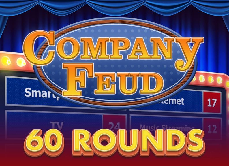 Virtual Game Night Customizable 60 Rounds Company Feud Powerpoint Game Template Family Feud Style Family Feud Game Family Feud Family Feud Template Free family feud template