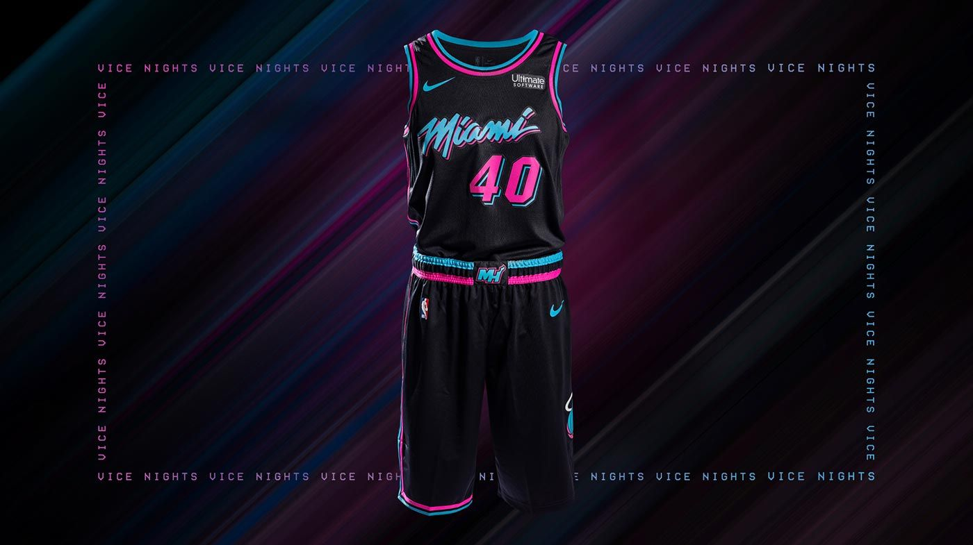 26ce8588adcc Dwyane Wade Nike Miami HEAT Vice Nights Swingman Jersey