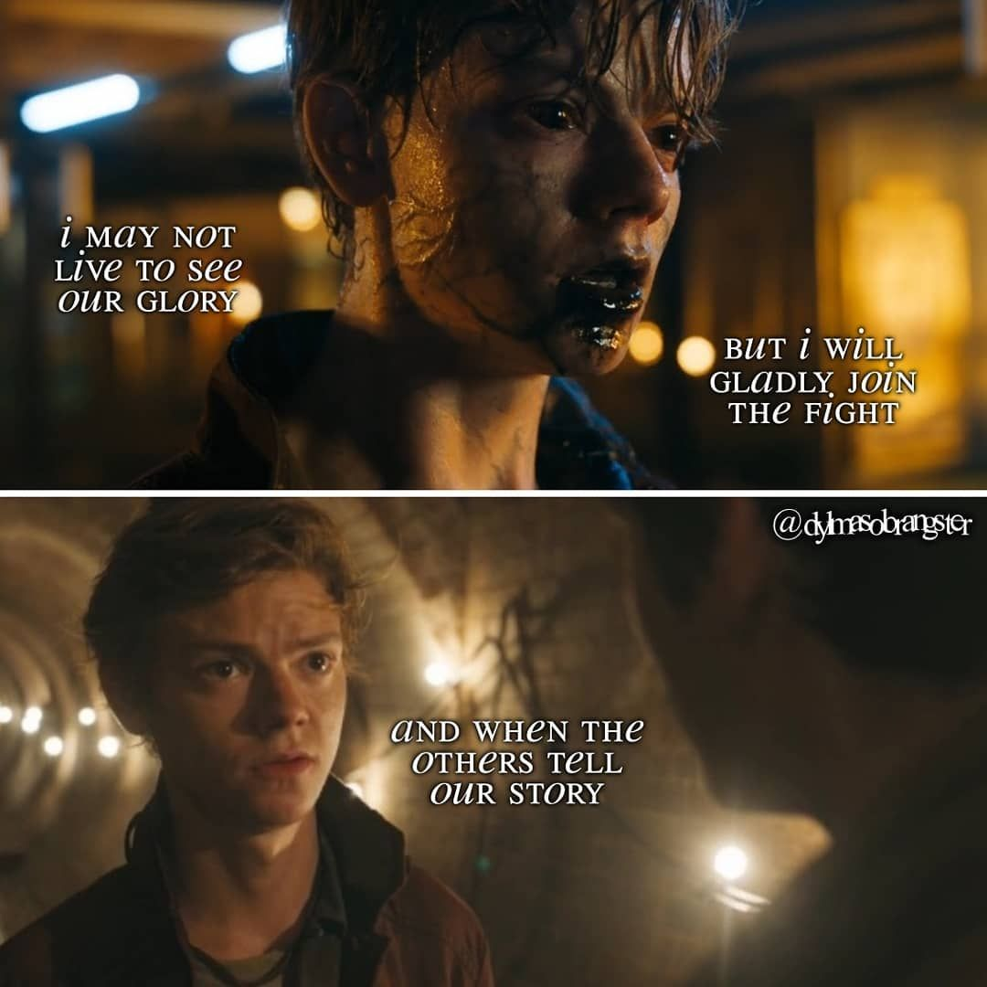 Anormal Porn pintaygen on the maze runner series   maze runner quotes