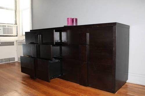 Espresso Color, Contemporary 6 Drawer Wood Dresser $400 OBO