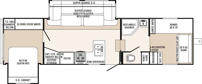 Probity Fifth Wheel Model 320fqds Bunkhouse 25 999 Big Bedrooms