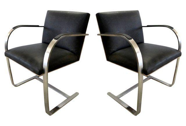 Mies van der Rohe Brno Chairs, Pair