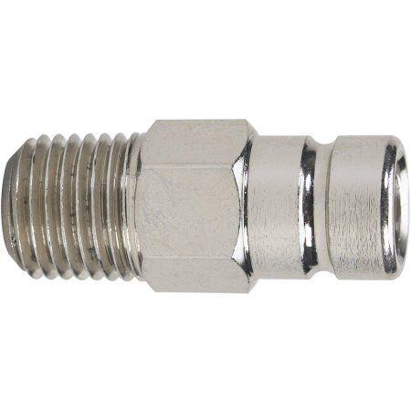 Moeller 033488-10 1/4 inch NPT Brass Fuel Tank Connector, Silver