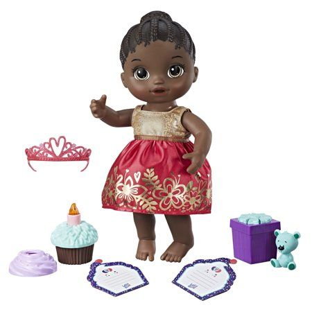 Baby Alive Cupcake Birthday Baby Black Hair Walmart Com In 2020 Baby Doll Accessories Baby Alive Realistic Baby Dolls