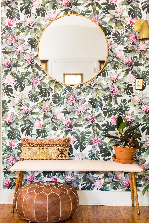 Rad Bromeliad Traditional Prepasted Wallpaper Wallpaper Etsy In 2020 Prepasted Wallpaper Home Decor Home