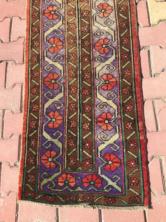 31 Inc X 10 Ft Runner Turkish Runner Long Hallway Runner Vintage Runner Rug Oushak Rug Turkish Vintage Rug Turkish Rug Vintage Rug Rug Runner Vintage Rugs Rugs