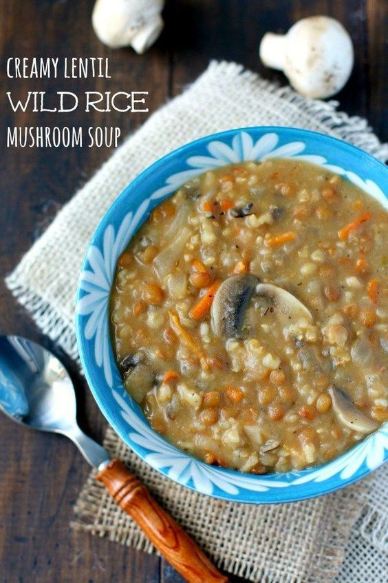 Easy and comforting creamy lentil and wild rice soup is a meal everyone is sure to enjoy!: