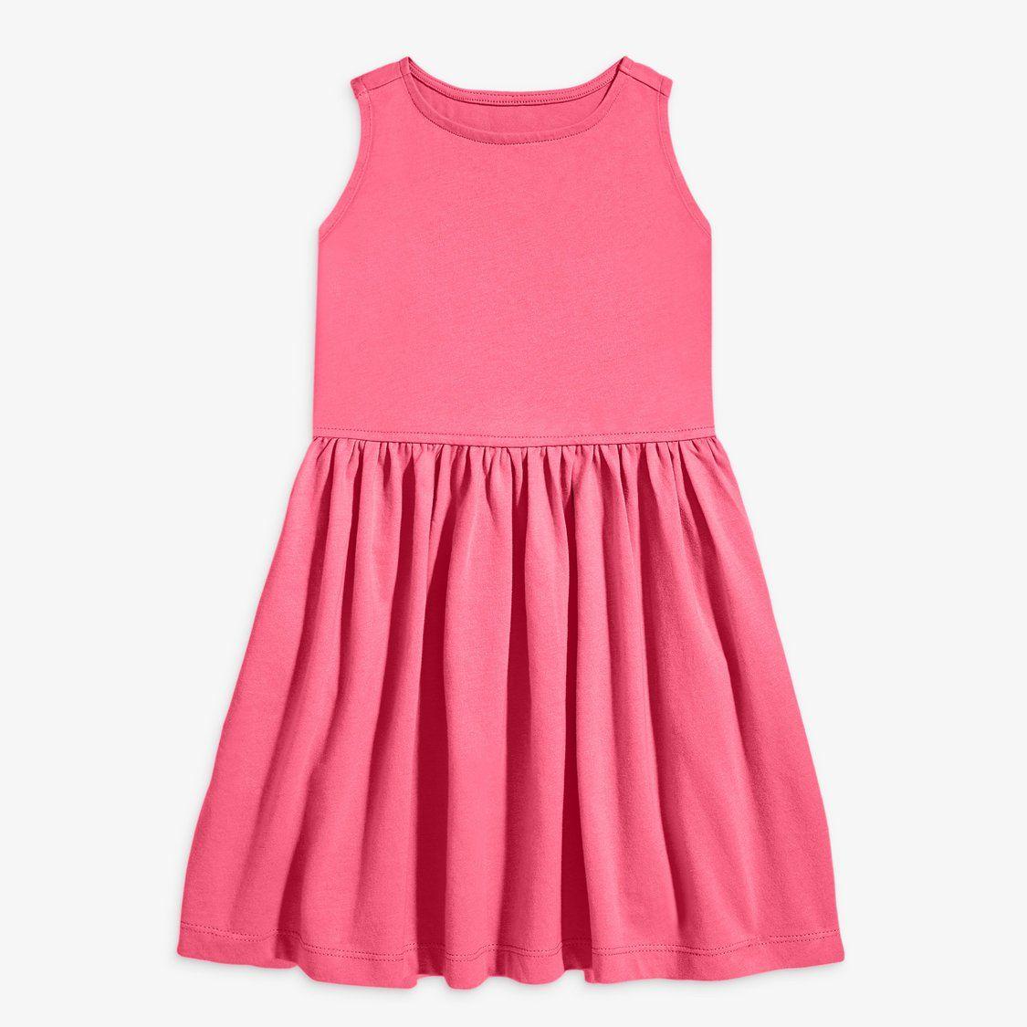 Kids Sleeveless Tank Dress With Pockets Primary Com Sleeveless Dress Summer Girls Dresses Summer Sleeveless Cotton Dress [ 1125 x 1125 Pixel ]