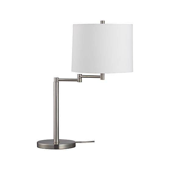Metro Ii Brushed Nickel Swing Arm Table Lamp Lamp Table Lamp Crate And Barrel