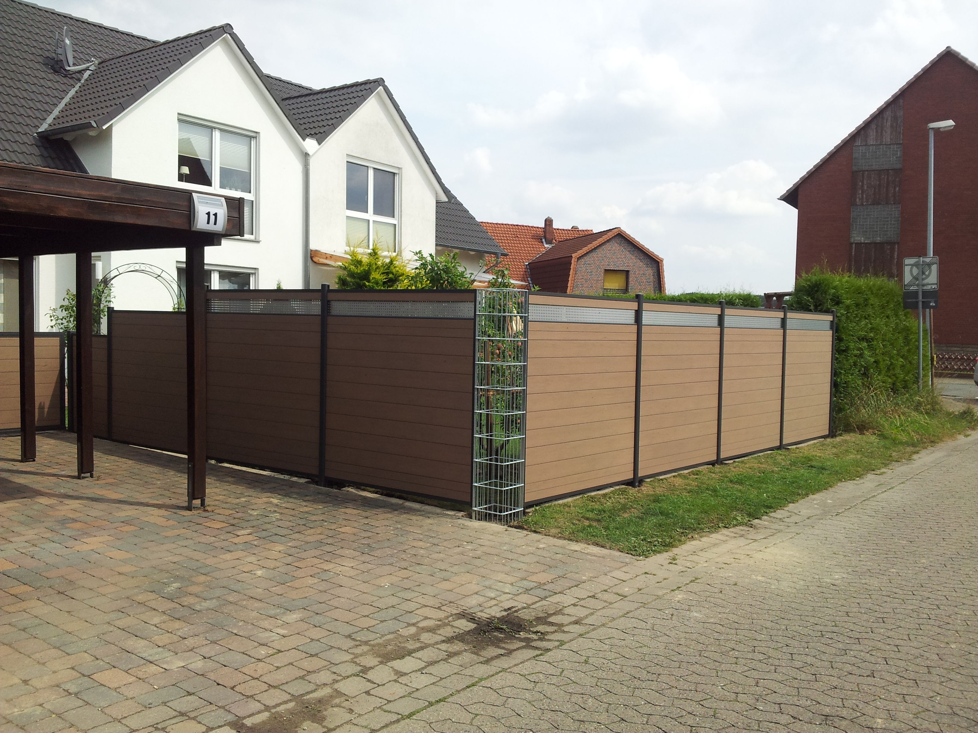 best durable wpc fence sale in Spain wind protection for