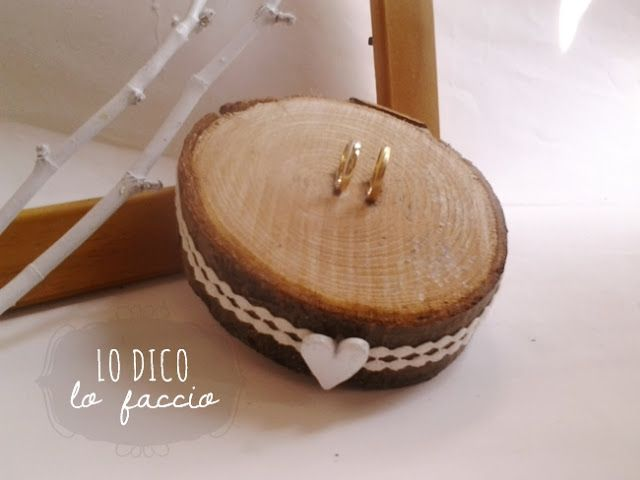 Photo of Porta fedi rustico di legno #wedding #ring #wood