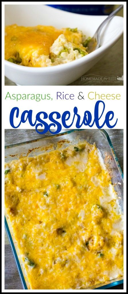 Asparagus Rice and Cheese Casserole   homemadeforelle.com