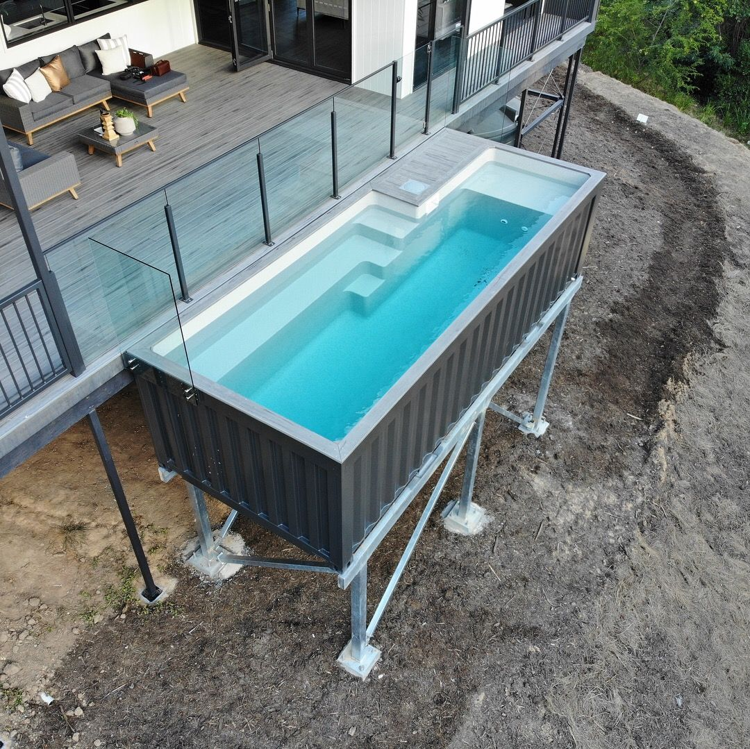 6m Pool — SHIPPING CONTAINER POOLS #shippingcontainercabin