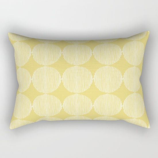 Sunny Circles Rectangular Pillow by All Is One #pillow #longpillow #home #decor #pretty #yellow #white #pattern #design #room #homedesign #homedecor #bedroom #love #summer #gift #gifts #interiordesign #interiordecor #interiordecoration