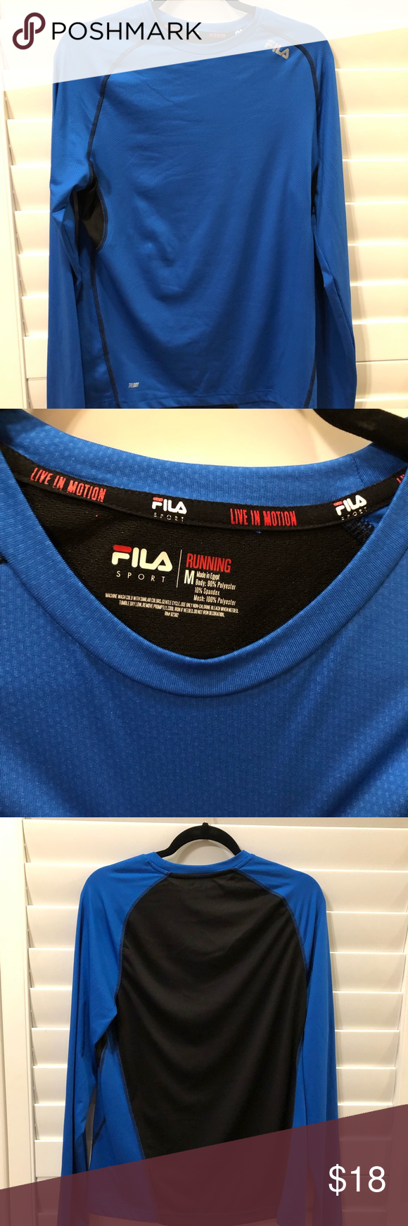 Fila Sport shirt Trydry sports shirt, draws moisture away