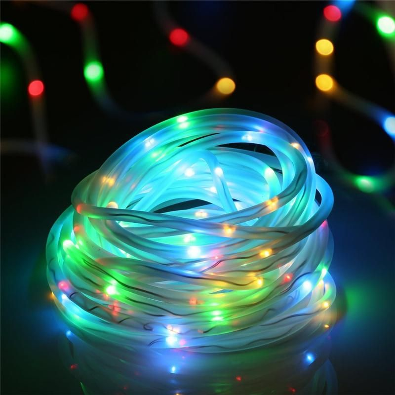 100 Leds Solar Rope Lights Waterproof Outdoor Portable Goamiroo