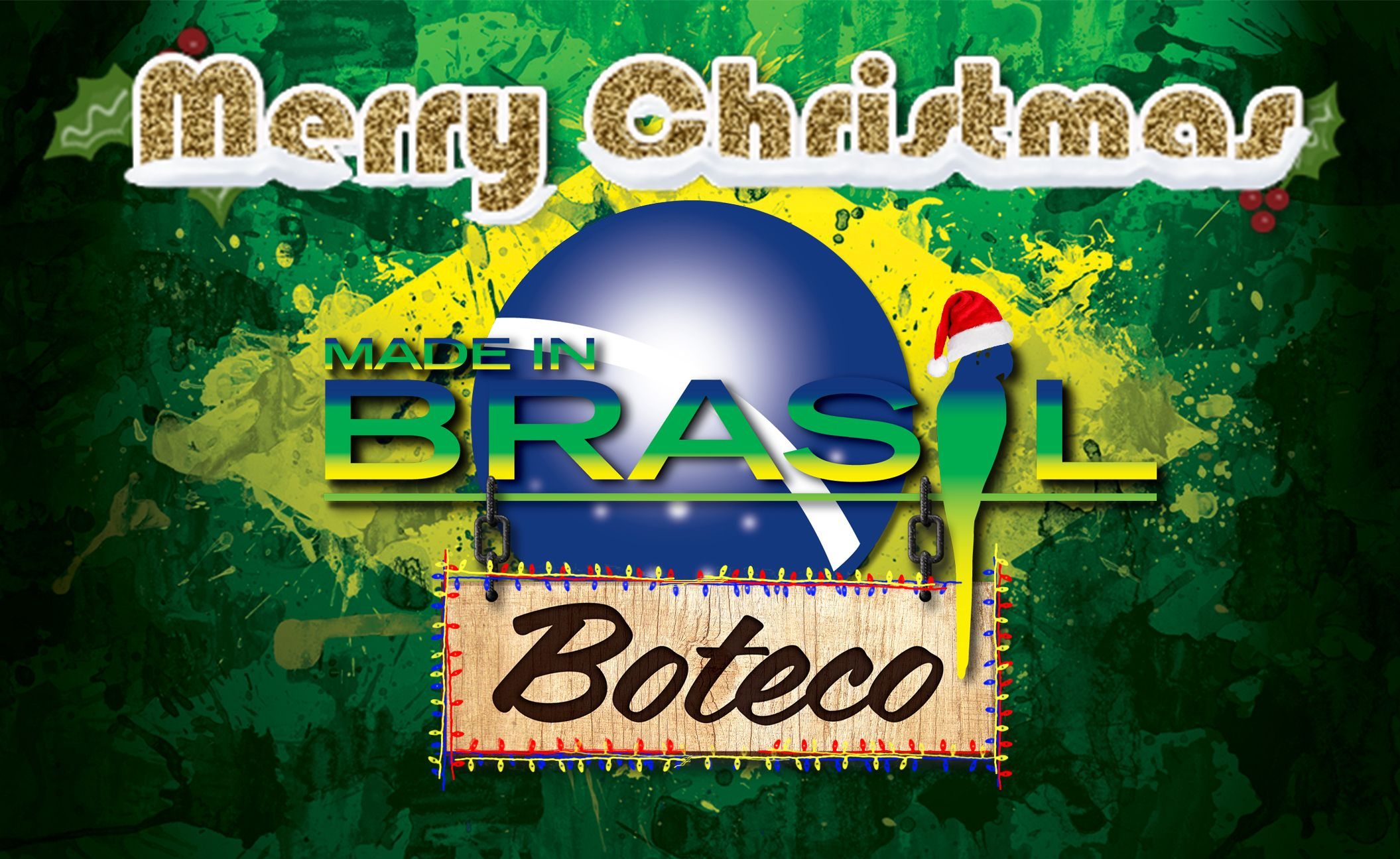 Dear friends, We wish you a lovely Christmas! May this joyful season meet you and your family with love, health and happiness. Feliz Natal!  Made In Brasil Boteco