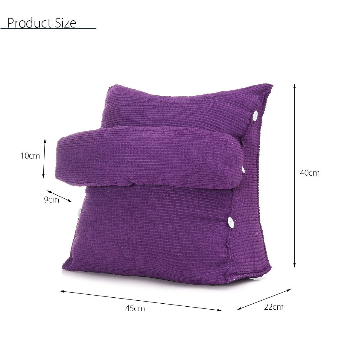 Adjustable Sofa Bed Chair Office Rest Neck Support Back Wedge Cushion Pillow Coussin Tutoriel
