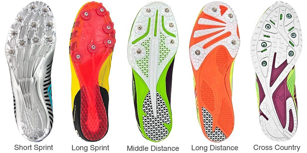 Track and field spikes