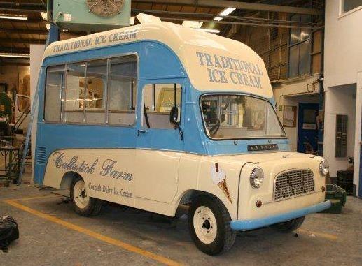 Bedford Ca Dondurma Arabasi Ice Cream Van Van Commercial Vehicle