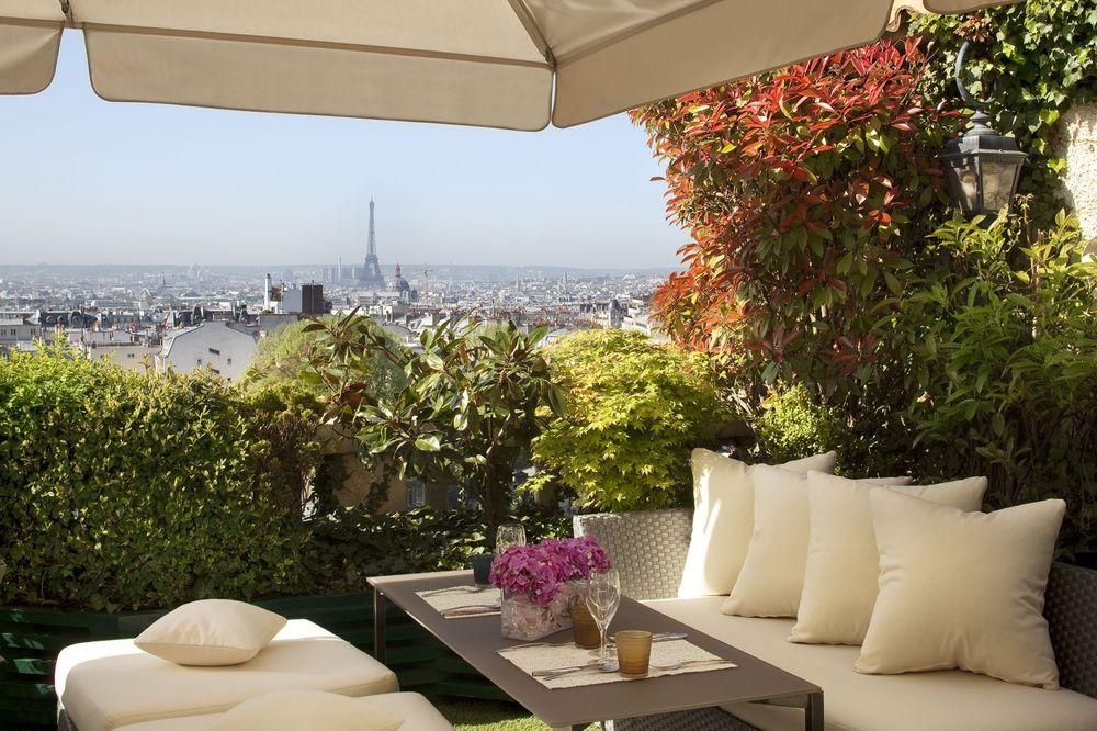Paris Terrass Hotel rooftop View of Eiffel Tower Paris