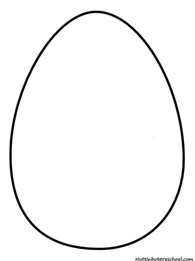 Challenger image in printable easter egg template