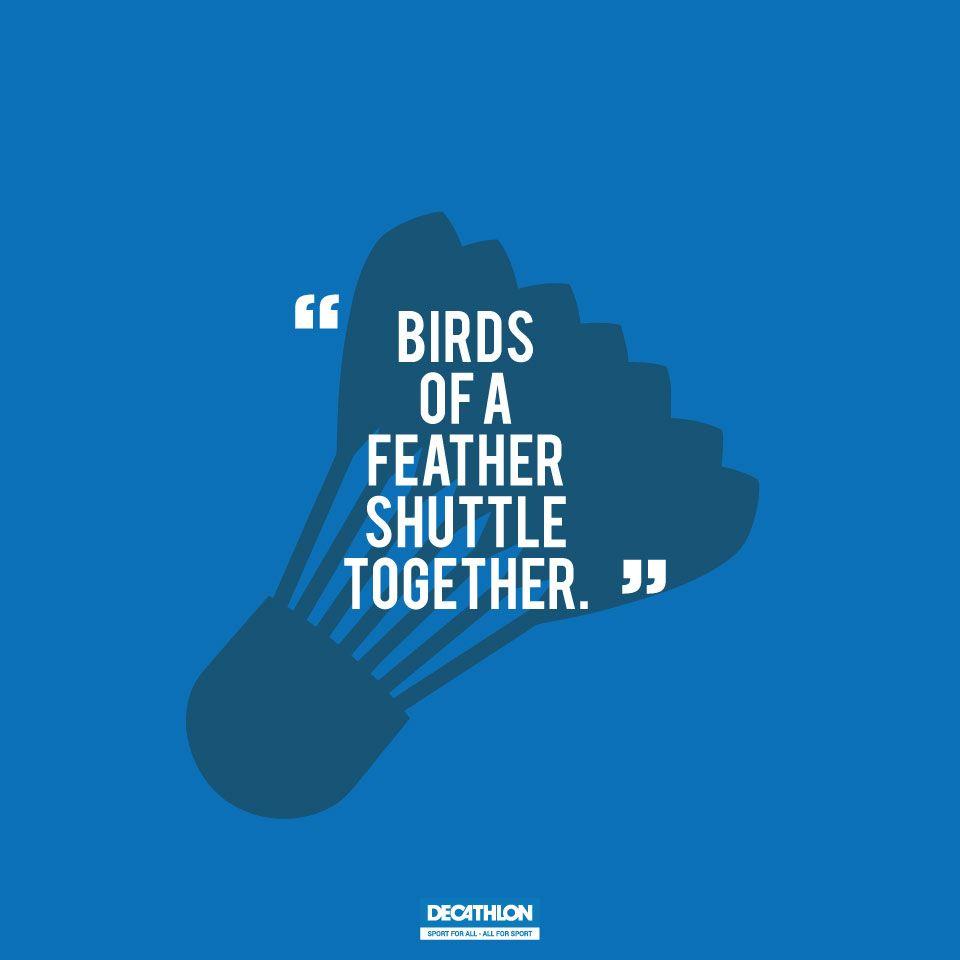 Let All Birds Be Badminton Players Then We Shall Definitely Flock Together Artengo Badminton Decathlon Sports