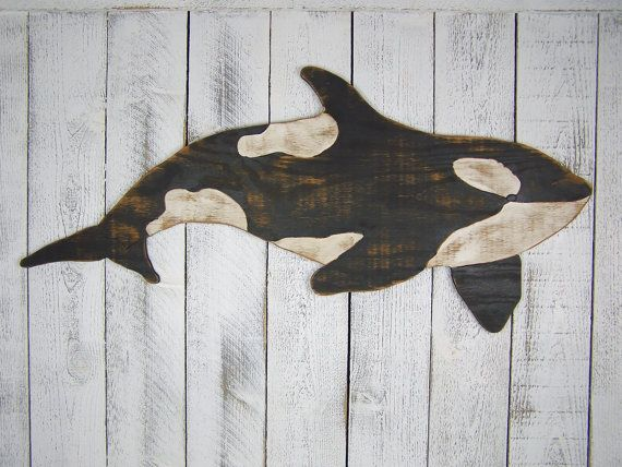 Orca Whale Sign Killer Whale Wall Art Wooden By Pineridgedesigns