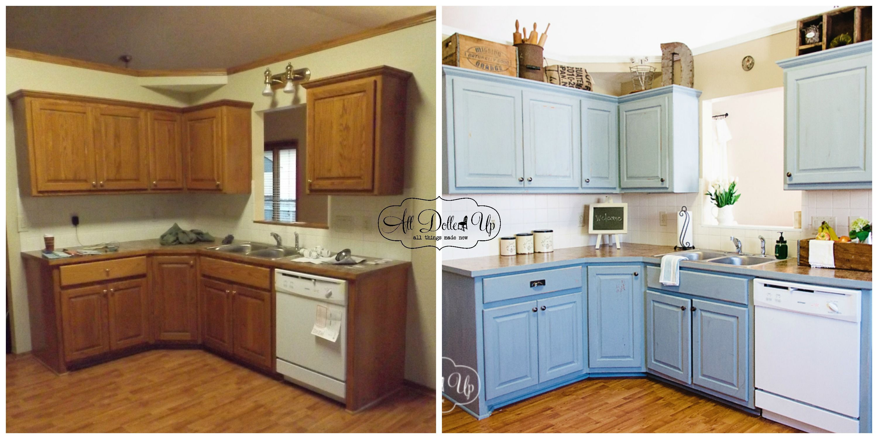 Doll House Tour Kitchen Updates Milk Paint Kitchen Cabinets Kitchen Cabinets Kitchen Cabinet Design