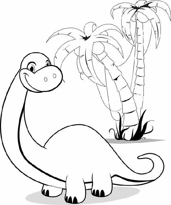 Cartoon Coloring Pages Brontosaurus