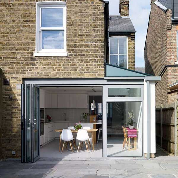 contemporary kitchen extension on Victorian terraced home london terrace jpg  600 Open