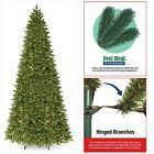 National Tree 14 Foot Feel Real Ridgewood Spruce Slim Tree with 1300 Clear Light