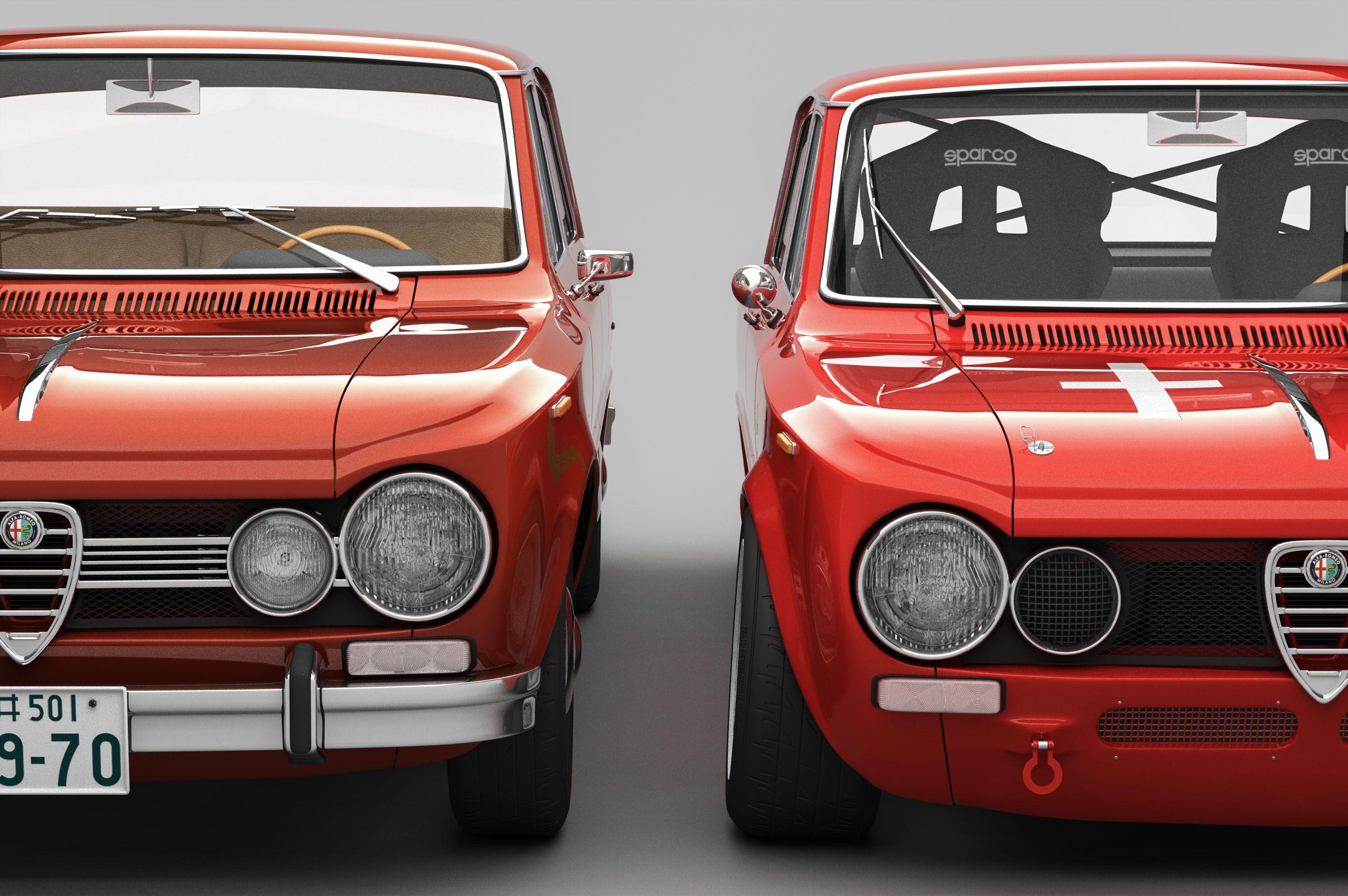 alfa romeo giulia 1600 super and giulia ti super quadrifoglio alleggerita black red auto. Black Bedroom Furniture Sets. Home Design Ideas