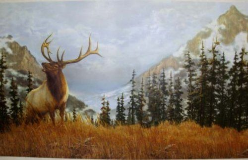 Elk In The Mountains Wallpaper Border Hg514b By Seabrook Http