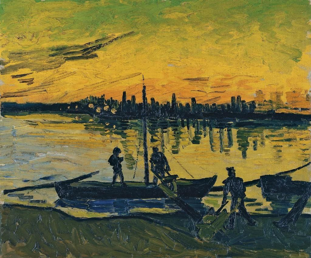 Vincent Van Gogh(1853ー1890)「The Stevedores in Arles(Los descargadores en Arlés)」(1888)