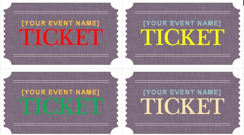 Generic Event Ticket Templates Tickets Pinterest Ticket